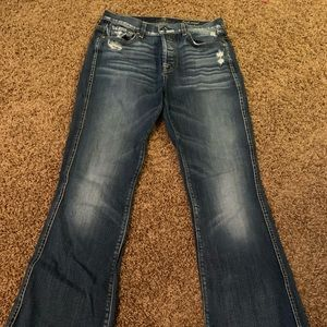 7 for all mankind high waist bootcut